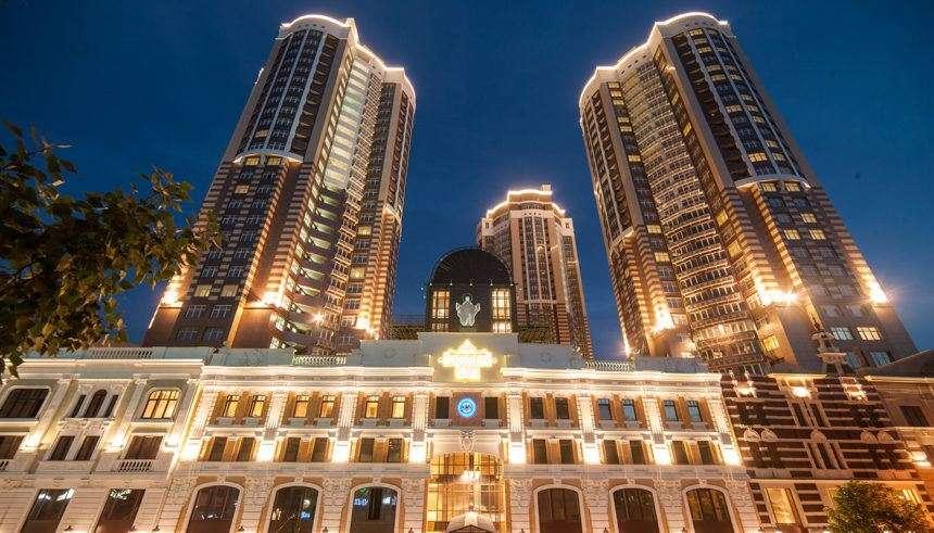 Beautiful night facade